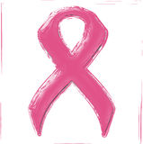 Breast cancer awareness pink ribbon Stock Photos