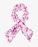Breast cancer awareness pink ribbon shape social Royalty Free Stock Photography