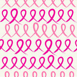 Breast cancer awareness pink ribbons seamless pattern EPS10 file royalty free stock image