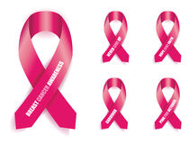 Breast cancer awareness ribbon Stock Photo