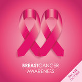 Breast cancer awareness ribbon Royalty Free Stock Photography