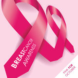 Breast cancer awareness ribbon Stock Images