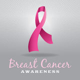 Breast Cancer Awareness Ribbon and Background Stock Photo