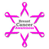 Breast Cancer Awareness Ribbon Circle Royalty Free Stock Photos