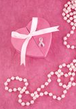 Breast Cancer Awareness Ribbon Pin Royalty Free Stock Image