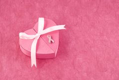Breast Cancer Awareness Ribbon Pin Stock Image