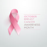 Breast Cancer Awareness Ribbon. Vector design and illustration royalty free illustration