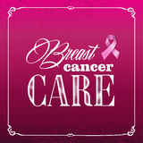 Breast cancer awareness ribbon vintage frame banne Stock Images