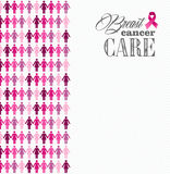 Breast cancer awareness ribbon women figures compo Stock Photo