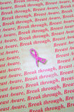 Breast cancer awareness symbol. Stock Images