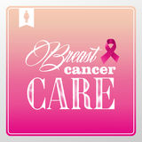 Breast cancer awareness symbols vintage banner con Royalty Free Stock Photography