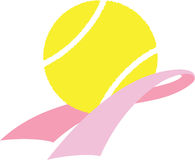 Breast Cancer Awareness Tennis Royalty Free Stock Photography