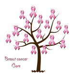 Breast cancer awareness tree Royalty Free Stock Photos
