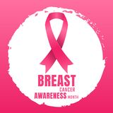 Breast Cancer awareness Vector background. For banner Royalty Free Stock Image