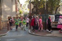 Breast cancer awareness walk Stock Photo