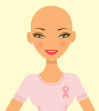 Breast cancer awareness woman Stock Photography
