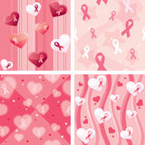Breast cancer awareness wrapping paper set Royalty Free Stock Images