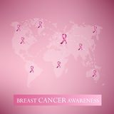 Breast cancer awarenss pink ribbon Royalty Free Stock Photos
