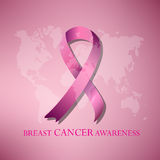Breast cancer awarenss pink ribbon Royalty Free Stock Photo