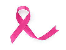 Breast cancer awarness ribbon Stock Photos