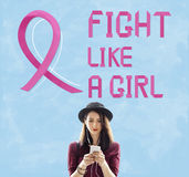 Breast Cancer Believe Hope Woman Illness Concept Royalty Free Stock Image