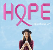 Breast Cancer Believe Hope Woman Illness Concept Royalty Free Stock Photography