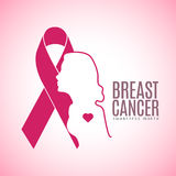 Breast cancer campaign. Graphic design, Vector illustration Royalty Free Stock Images