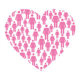 Breast cancer campaign heart. Vector illustration design Royalty Free Stock Image