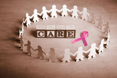 Breast cancer care Stock Images
