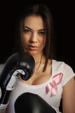 Breast cancer concept stock photo