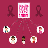 Breast cancer design Royalty Free Stock Photography