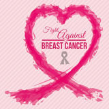Breast cancer design Royalty Free Stock Images