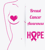 Breast cancer design Stock Photo