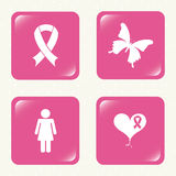 Breast cancer design. Breast cancer graphic design , vector illustration Royalty Free Stock Photo