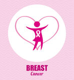 Breast cancer design. Breast cancer graphic design , vector illustration Stock Image