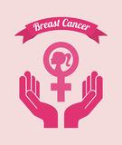 Breast cancer design. Breast cancer graphic design , vector illustration Royalty Free Stock Image