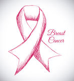 Breast cancer design Royalty Free Stock Image