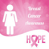 Breast cancer design Royalty Free Stock Photos