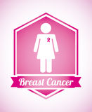 Breast cancer design. Breast cancer graphic design , vector illustration Stock Photo