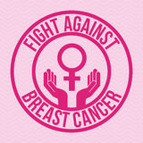Breast cancer design Stock Photography