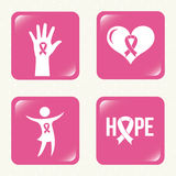 Breast cancer design. Breast cancer graphic design , vector illustration Royalty Free Stock Photography