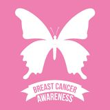 Breast cancer design. Illustration EPS10 Royalty Free Stock Photo