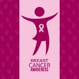 Breast cancer. Design,  illustration eps10 graphic Royalty Free Stock Photos