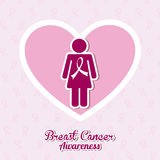 Breast cancer. Design,  illustration eps10 graphic Royalty Free Stock Photo