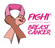 Breast cancer design,  illustration. Royalty Free Stock Photography