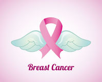 Breast cancer design Stock Image