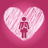 Breast cancer. Design, vector illustration eps10 graphic Royalty Free Stock Photography