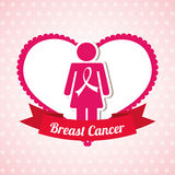 Breast cancer. Design, vector illustration eps10 graphic Royalty Free Stock Images