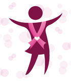 Breast cancer. Design, vector illustration eps10 graphic Royalty Free Stock Photos
