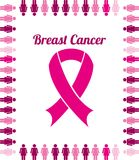 Breast cancer design Royalty Free Stock Photo